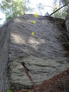 Rock Climbing Photo: Gettin' Started, the 5.6ish slab on the right face...