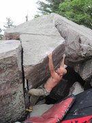 Rock Climbing Photo: One of the methods for tackling this scramble