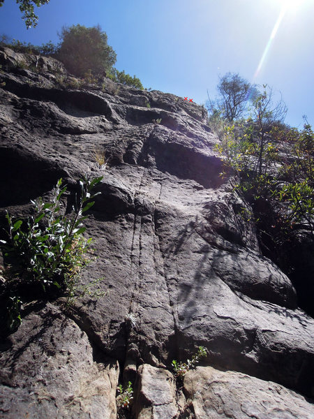Rock Climbing Photo: A view of the many features from the start of Mons...