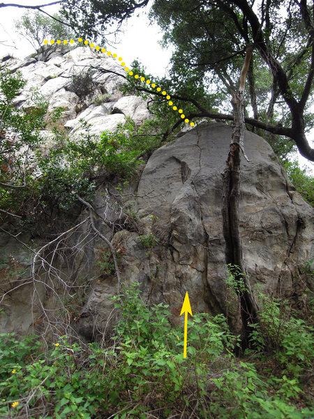 """Rock Climbing Photo: """"A Small Problem Along the Way"""" (Get it?..."""