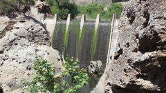 Rock Climbing Photo: Century Lake Dam spillway.