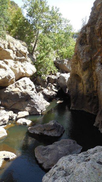 Rock Climbing Photo: Below the dam