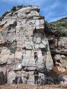 Rock Climbing Photo: Ana beginning her upward journey