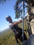 Rock Climbing Photo: Finishing P1 of Jackie