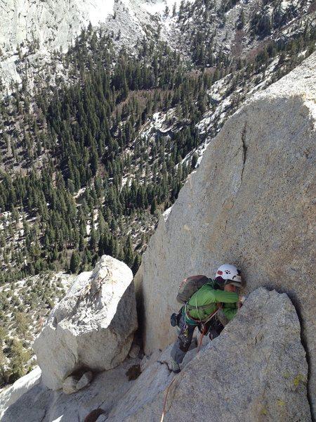 Rock Climbing Photo: Amy Ness finishing P6, B-C route.