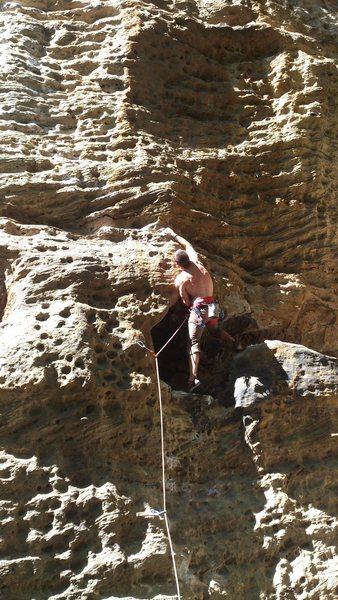 Myself pulling out of the hueco on Supafly.