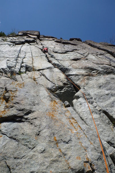 Rock Climbing Photo: Groveling up On the Loose