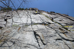 Rock Climbing Photo: One friggin steep cracked wall