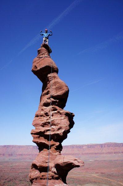 Rock Climbing Photo: Ancient art.  Moab, Utah