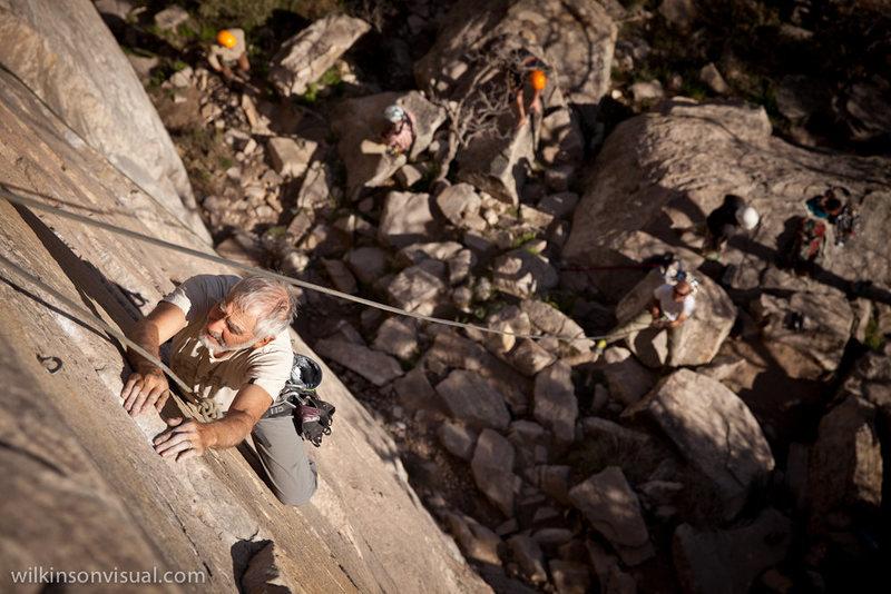 Rock Climbing Photo: Ted wishing he was a little bit taller.