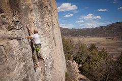 Rock Climbing Photo: Bill scratching the itch.