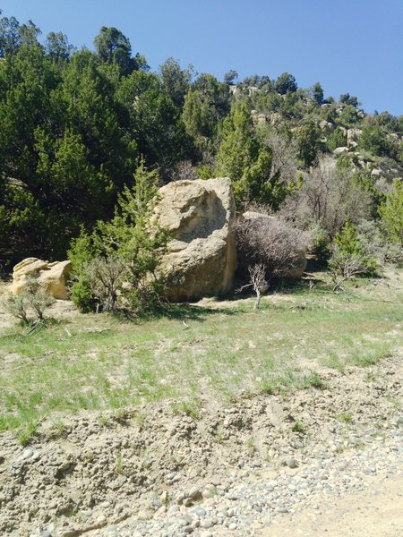 Breaking Bad Boulder from 16 Road.