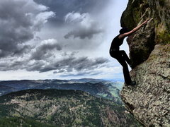 Rock Climbing Photo: downclimb off the First Flatiron photo by TooTallT...