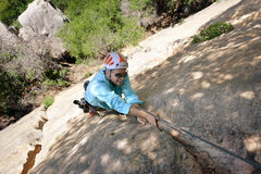 Rock Climbing Photo: Patrick Callery enjoys perfect fingers near the to...