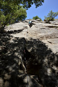 Rock Climbing Photo: Patrick Callery climbs through the awesome crux of...
