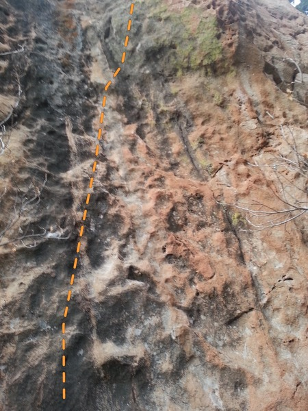 Rock Climbing Photo: Crappy phone camera shot of the route
