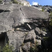 Rock Climbing Photo: The crux is right above the 5.8 munge climb at the...