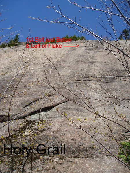 Rock Climbing Photo: Holy Grail - Possibly the FA start stepped over th...