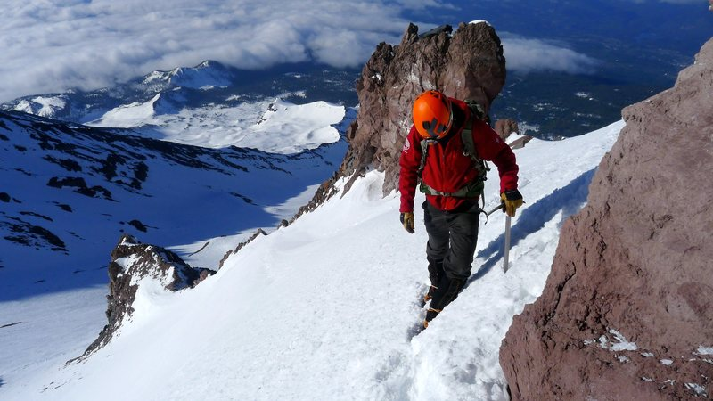 Rock Climbing Photo: Casaval Ridge, Mt. Shasta - May 2014