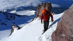 Rock Climbing Photo: Casaval Ridge, Mt. Shasta - May 2014