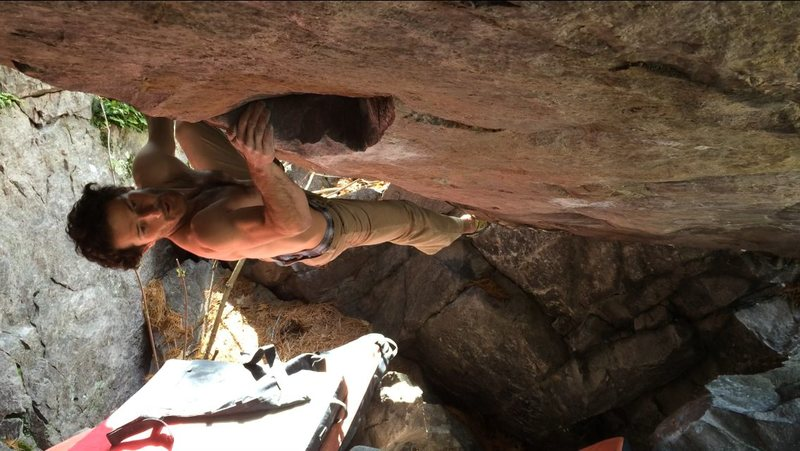 One move into Born in Blood.  This thing is steep! Photo Peter Bonamici
