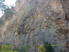 Rock Climbing Photo: Topo photo of the Shack