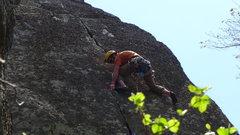 Rock Climbing Photo: At the crux