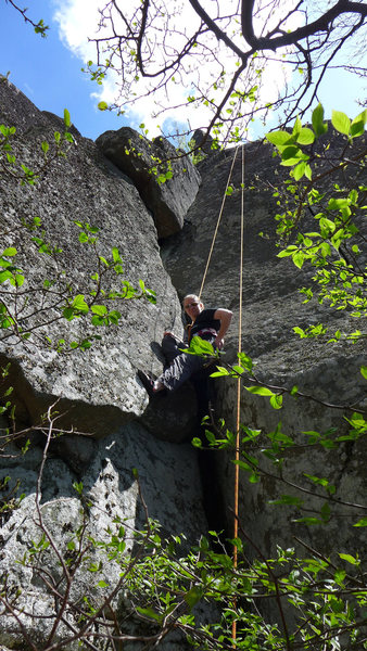 Rock Climbing Photo: In the dihedral