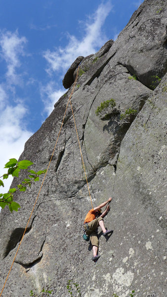 Mike at the second crux