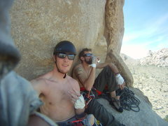 Rock Climbing Photo: top out chillin'