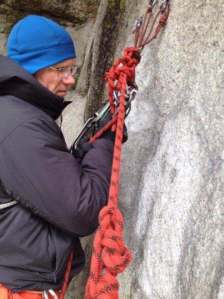 penberthy belay escape practice on a poor day