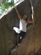 Rock Climbing Photo: Using a small crimp to gain some height