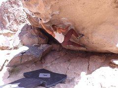 Rock Climbing Photo: Monkey Hang action shot