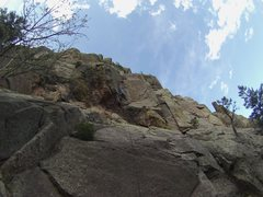 Rock Climbing Photo: Full Break on Through start. Climb the slab, pull ...