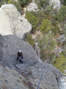 Rock Climbing Photo: A look down from pitch 2
