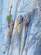 Rock Climbing Photo: Stanley cruising pitch 4