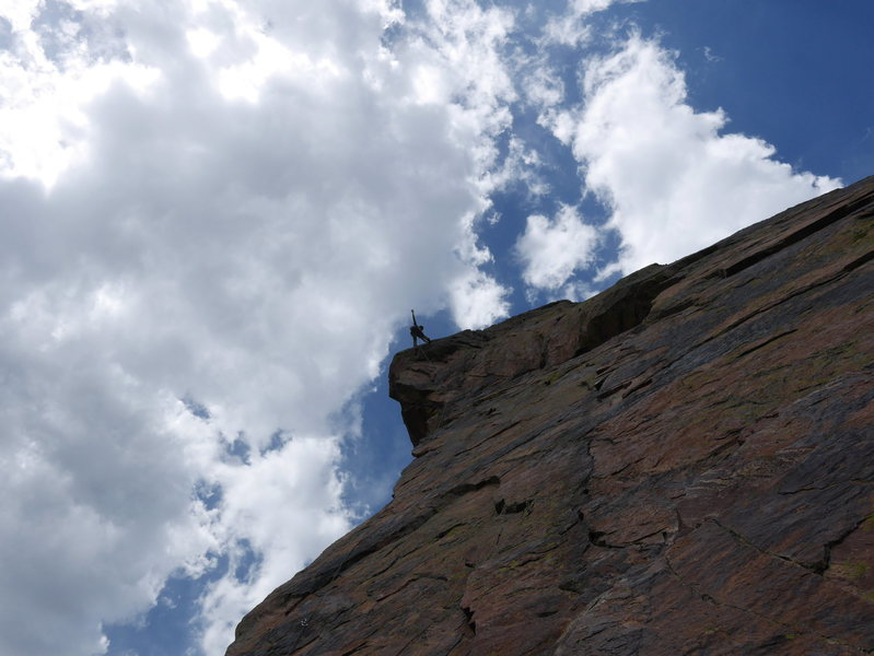 "Rock Climbing Photo: Scott Bennett on the first ascent of the ""DG ..."