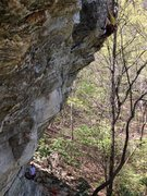 Rock Climbing Photo: On the way to victory.