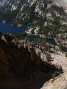 Rock Climbing Photo: Pitch 2 (and the descent gully down below)  July 2...