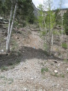 Rock Climbing Photo: Start of the trail up to Sesame Street and Univers...