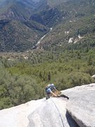 Rock Climbing Photo: David B. coming up Pitch 1.
