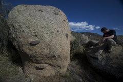 Kachaaa Boulder. Climb the obvious face.