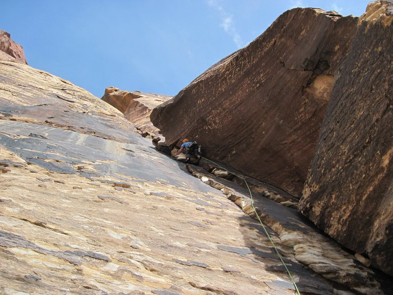 Leading in Red rocks, Black Orpheas