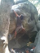 Rock Climbing Photo: slope ending on The Swim V3