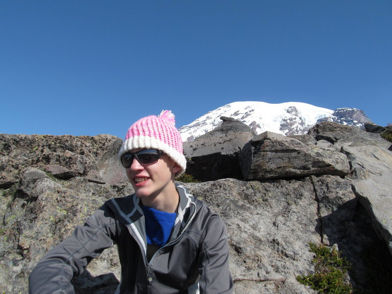 Rock Climbing Photo: Resting at Pebble Creek on the way up to Camp Muir...