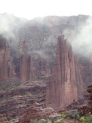 Rock Climbing Photo: Gothic Nightmare and the Citadel in the fog