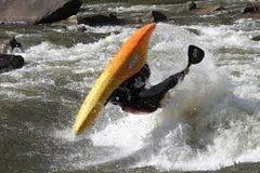 Rock Climbing Photo: Upside down kayak