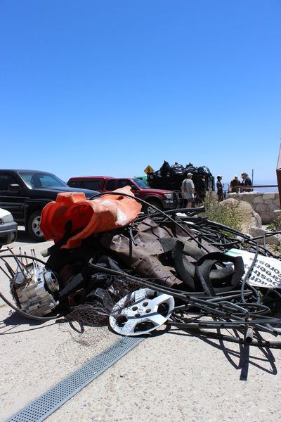 Rock Climbing Photo: Some of the trash we removed