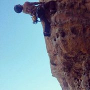 Rock Climbing Photo: good rest point just above crux