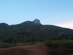 Rock Climbing Photo: Mt. Longido at dusk, from the road.